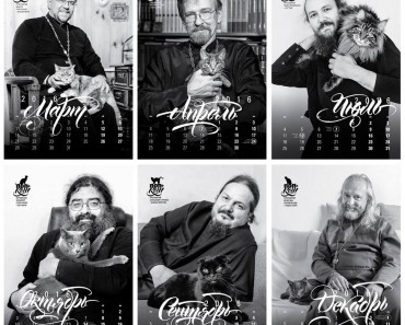 Cats Calendar Featuring Russian Orthodox Priests!