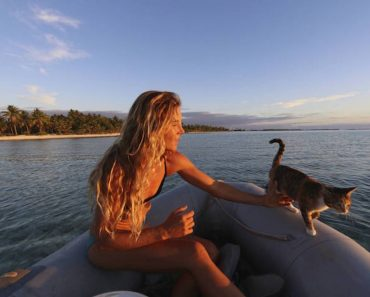 A Woman And Her Cat Are Sailing Around The World!