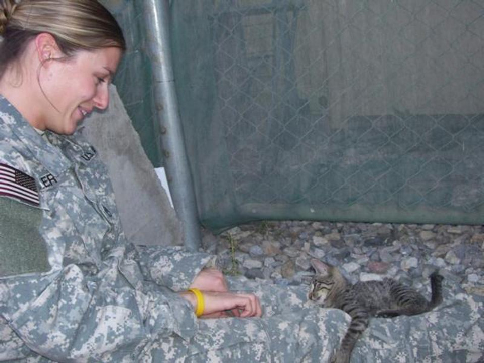 Soldier Refused To Leave Special Needs Kitten Behind